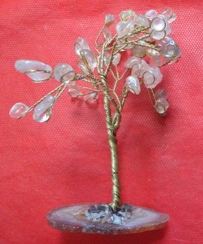árvore de topiaria em citrino amarelo base âmbar - a27