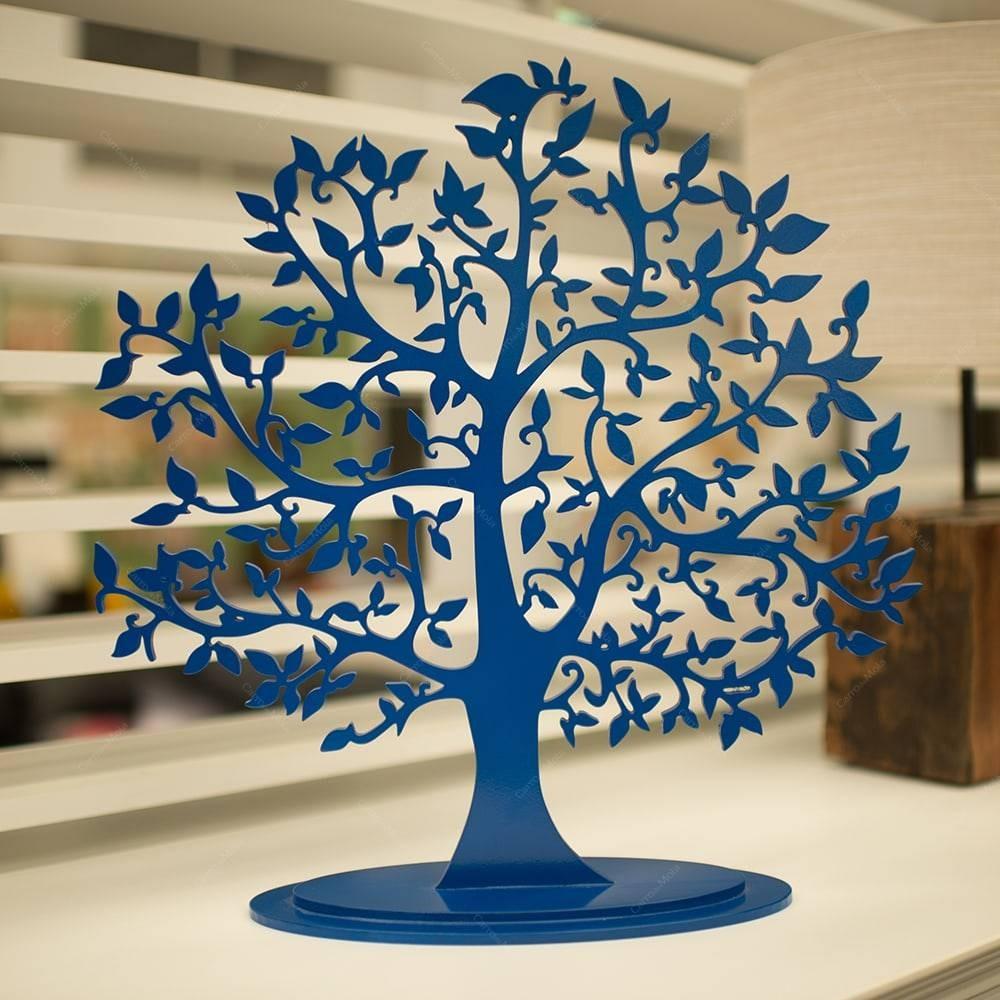224755875 Árvore Decorativa Da Fortuna Azul Royal Em Mdf - 46x45 Cm - R  169 ...