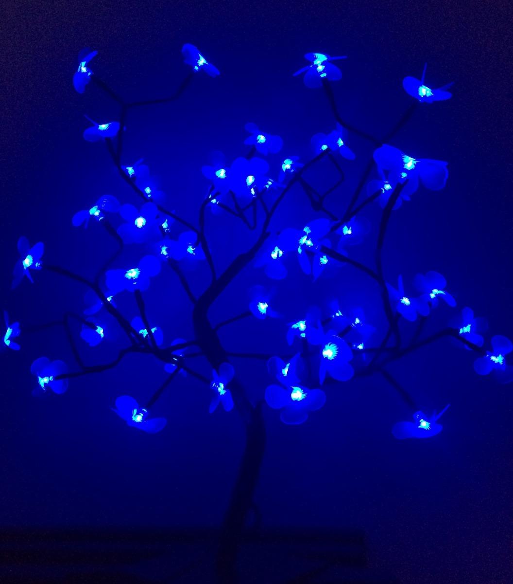 decoracao arvore de natal azul:Árvore Natal Decorativa Led Flor Azul Alt 60 Cm S/pisca – R$ 110,00