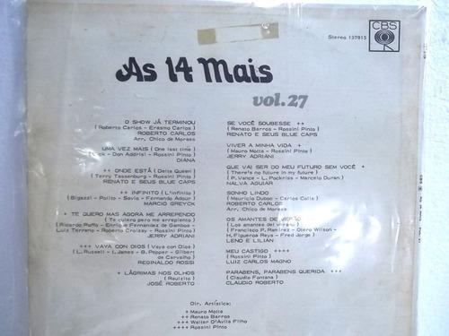 as 14 mais vol 27 lp ano 1973 frete 20,00