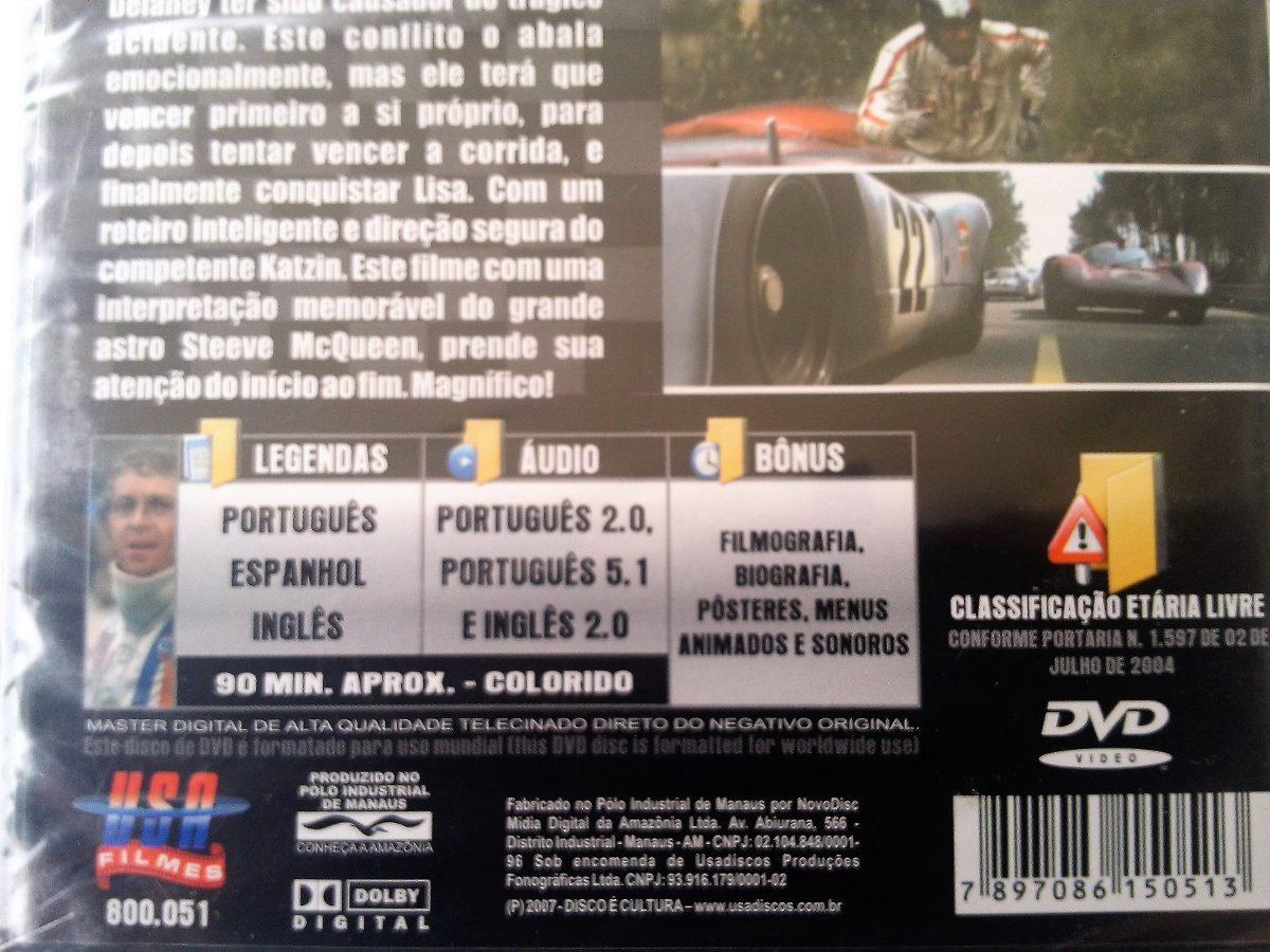 As 24hs De Le Mans - Steve Mcqueen - Dublado - Dvd Novo - R$ 29,00 ...
