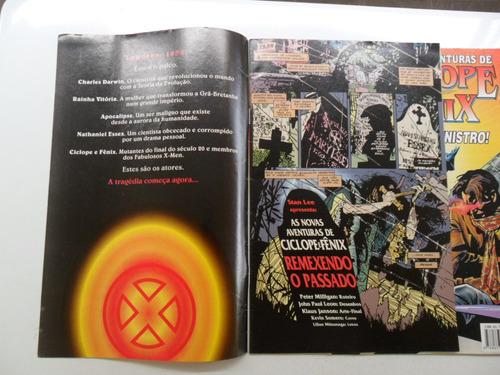 as aventuras de ciclope e fênix nºs 1 e 2! ed. abril 1996!