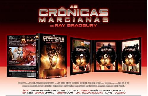 as crônicas marcianas - a série completa - box com 3 dvds