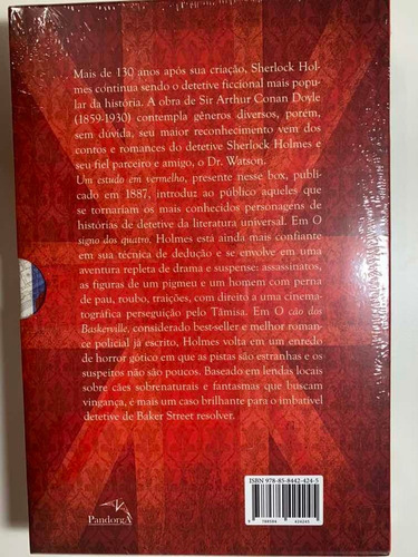 as grandes histórias de sherlock holmes -  3 livros - novo
