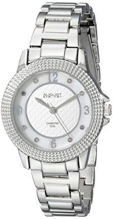 as8154ss agosto steiner de plata de las mujeres reloj de c