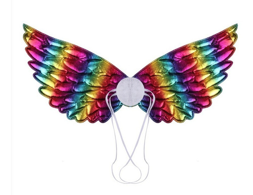 asa infantil arco-íris para fantasias anjo ou unicórnio