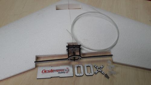 asa zagi 120cm eps (isopor f4) kit c/ montante e linkagem