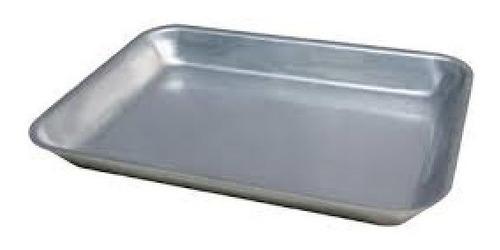 asadera de aluminio bandeja  reforzada 42x32x5 cm n°6