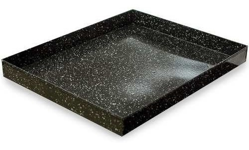 asadera enlozada 25 x 35 x 4,5 cm reforzada p/ horno cocina
