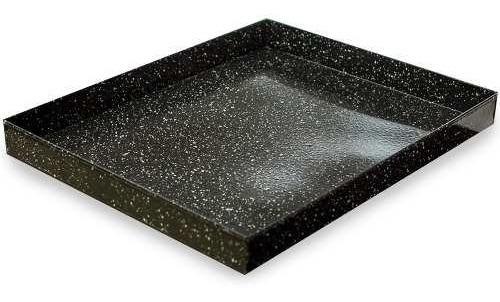 asadera enlozada 40 x 30 x 4,5 cm reforzada p/ horno cocina