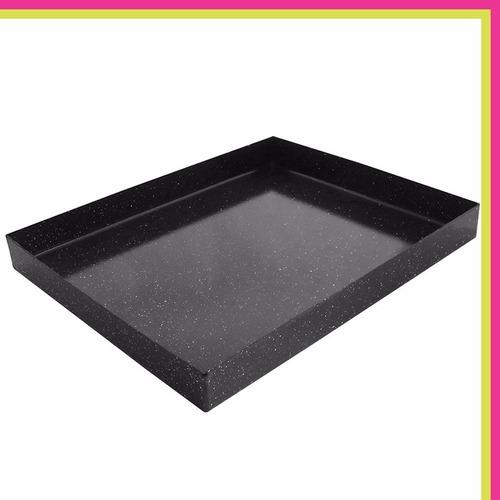 asadera enlozada para horno lata rectangular 30x40 cm