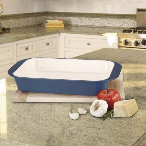 Asadera hierro fundido esmaltada chef 35cm cuisinart u s for Classic muebles montevideo