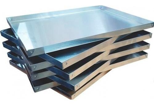 asadera placa 33x25x2 acero soldada reforzada bandeja masas