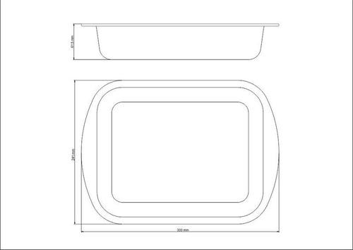 asadera tramontina rectangular aluminio 28 cm starflon