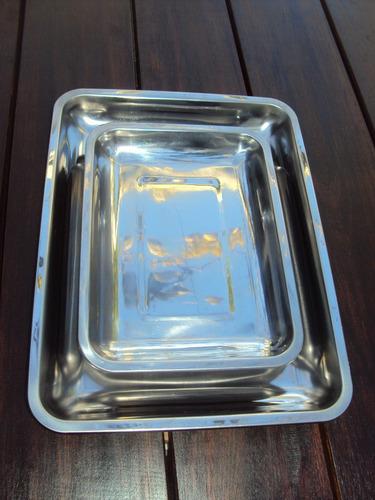 asaderas de 30 cm x 40 cm y de 30 cm x 20 cm - acero inox.
