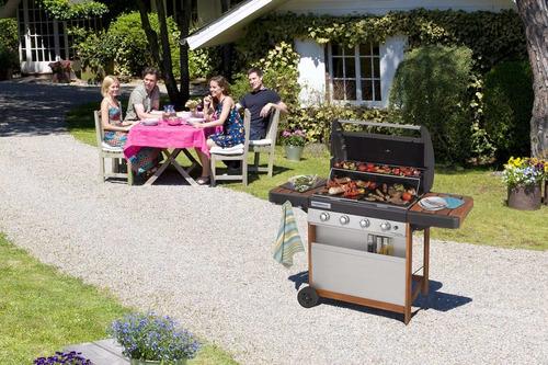 asador a gas bbq marca campingaz 4 series woody l barbacoa