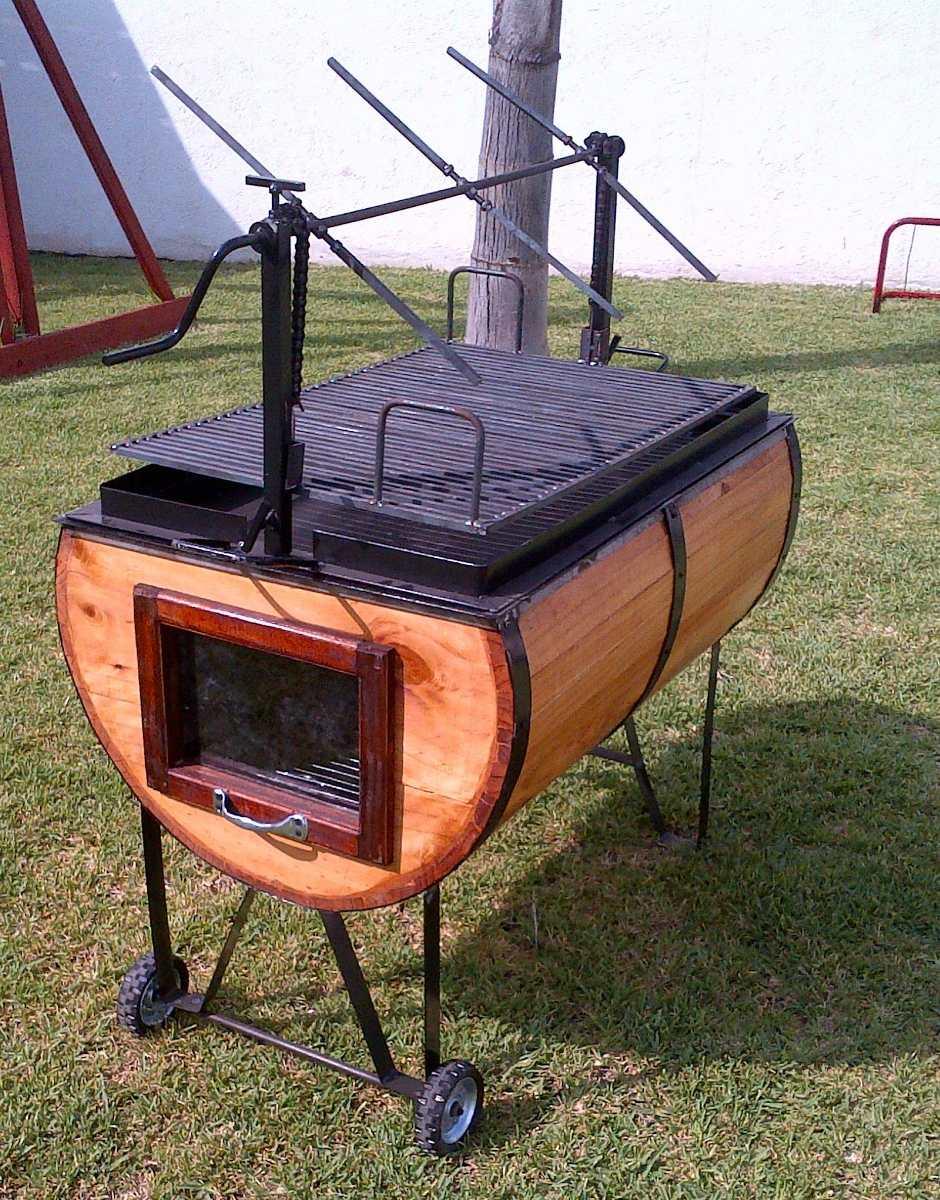 Asador ata d barril aceroinox cabritero parrilla nivel for Quien compra muebles usados
