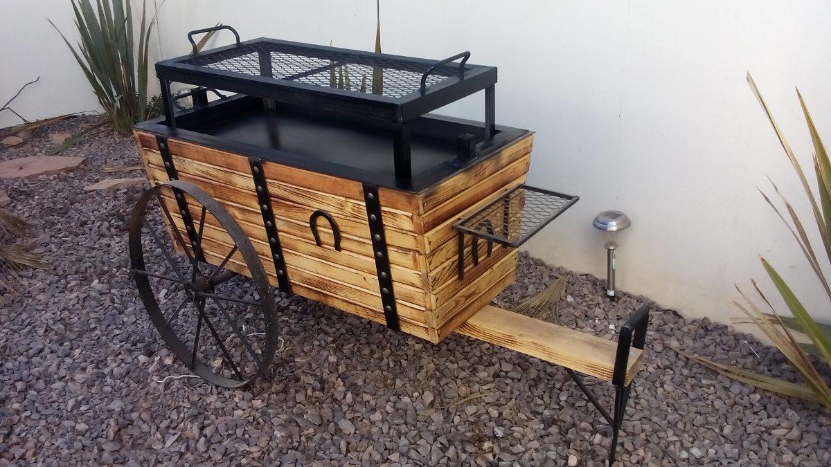 asador ataud diseño de carreta borrego cabrito carnes asadas