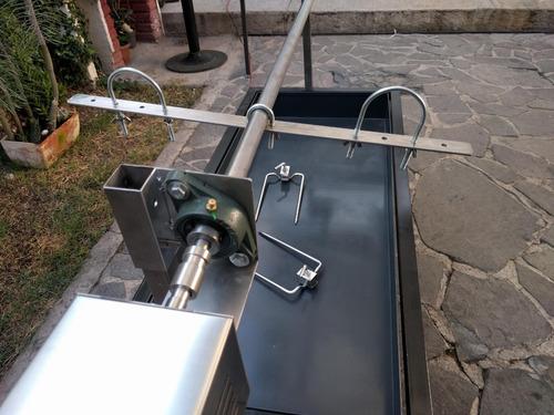 asador con motor para borrego entero, lechón o cordero
