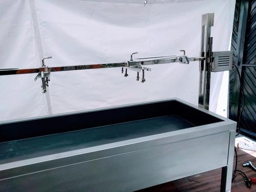 asador con motor para lechón