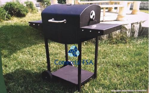 asador de carbón carnes repisas 120 cm envío gratis msi