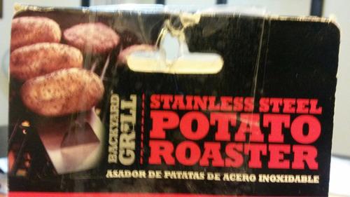 asador de papas de acero inoxidable