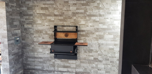 asador de pared abatible *kit de instalación y funda gratis