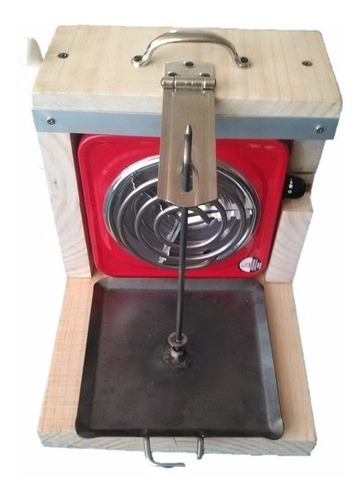 asador electrico mini trompo pastor madera cuchillo pinzas