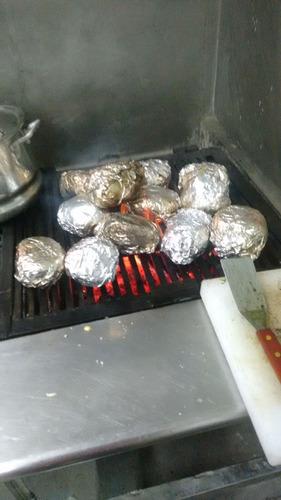 asador hamburguesas de acero inoxidable 2 parrillas