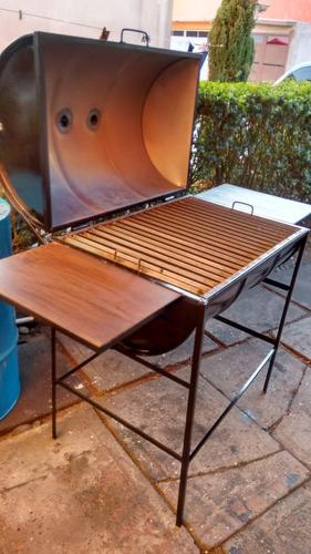 asador nuevo de tambo grande (200lts) para carbon