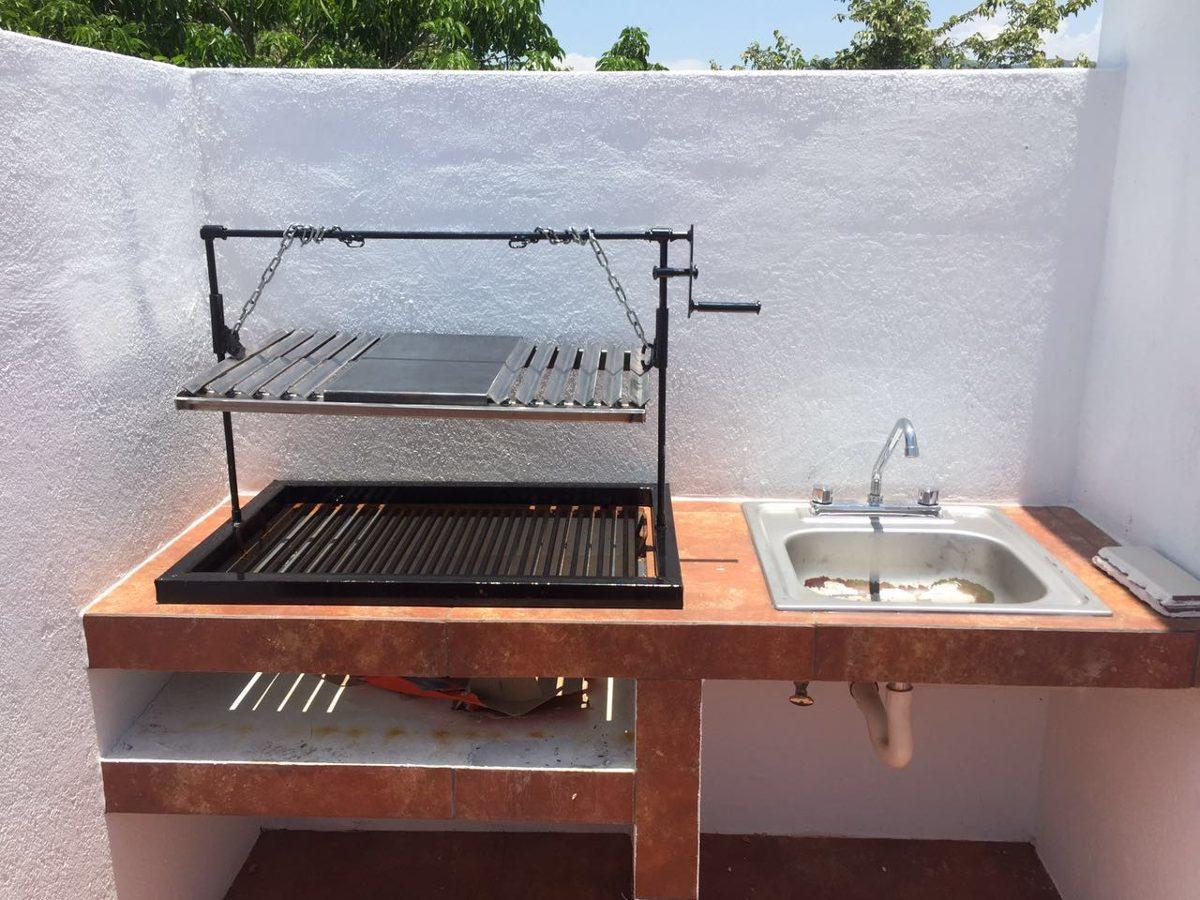 Asador para carne tipo parrilla argentina 3 en for Asador para jardin