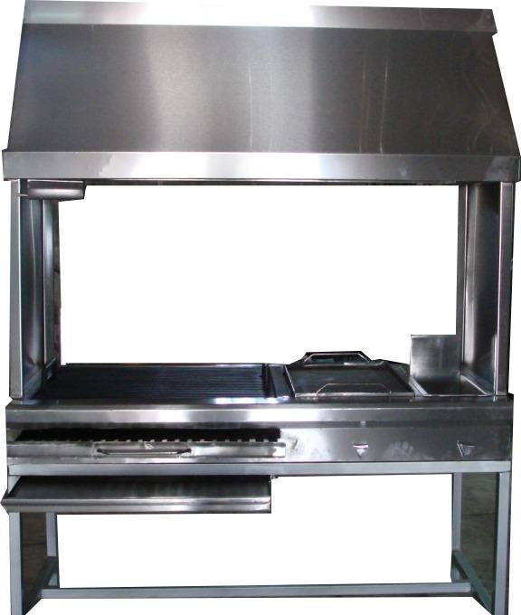 Asador plancha campana de acero inoxidable 12 - Plancha de acero inoxidable para cocina ...