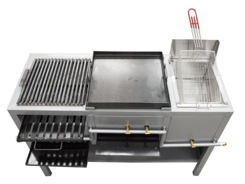 asador plancha y freidora 4 en 1 estufa restaurantes cocinar