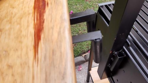 asador tipo argentino desmontable parrilla levadiza 90x45 cm