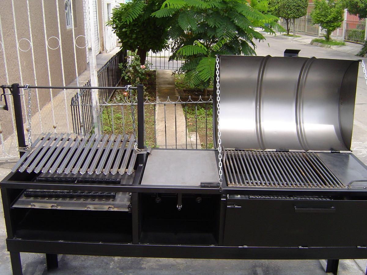 Asadore de carne argentino ahumador pollero y horno for Asadores para carne jardin