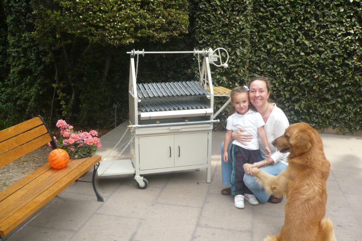 Asadores de carne al carbon tipo parrilla argentino for Asadores para carne jardin
