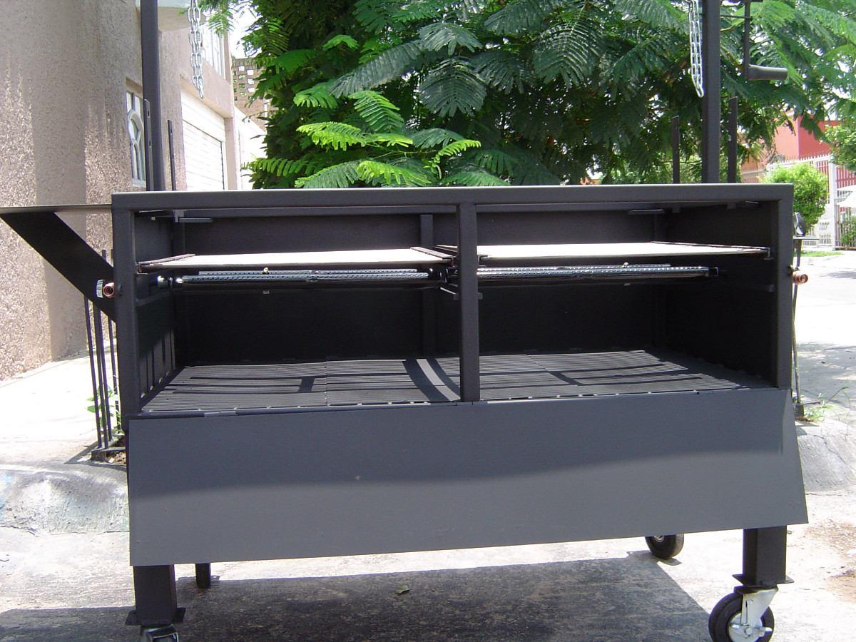 Asadores de carne argentino jumbo parrilla ajustable for Asadores para carne jardin