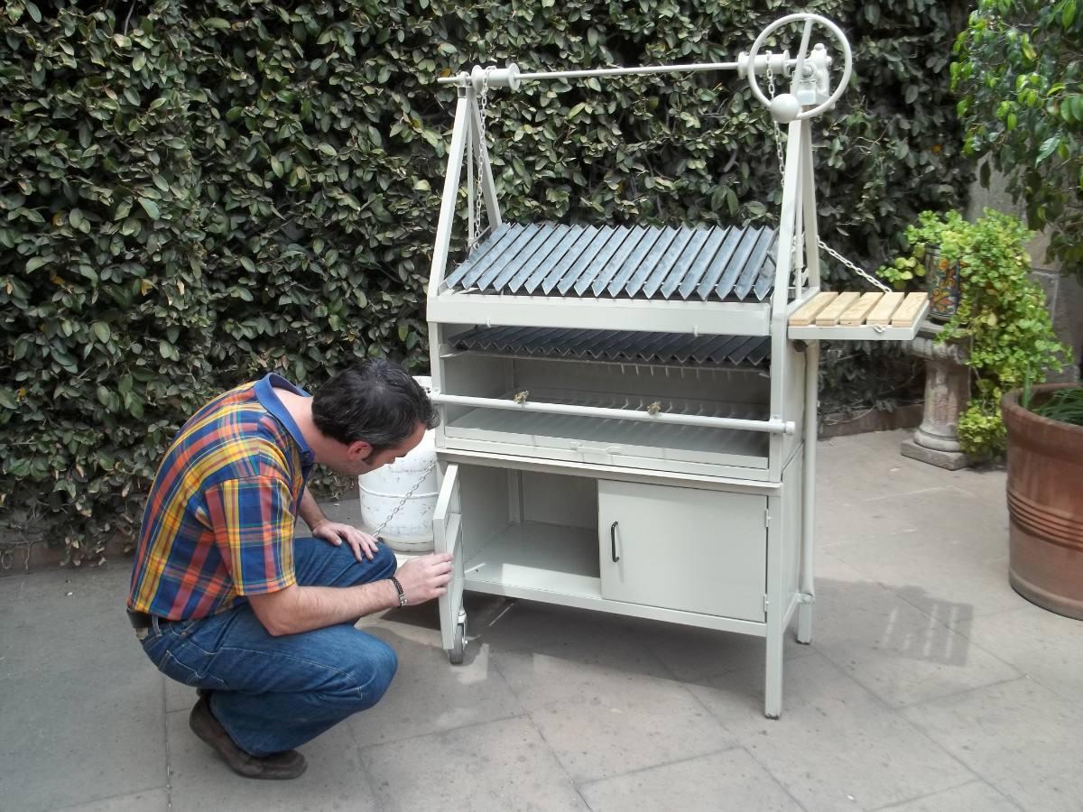 Asadores para carne asador tipo parrilla argentina for Asador para jardin