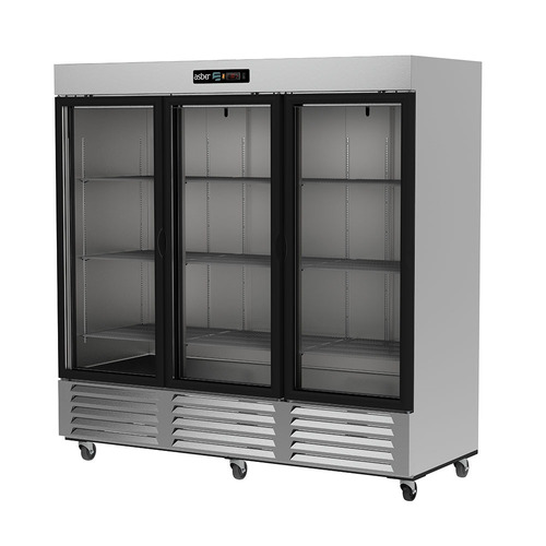 asber arr-72-3g-pe refrigerador 3 puertas cristal 72 xxref