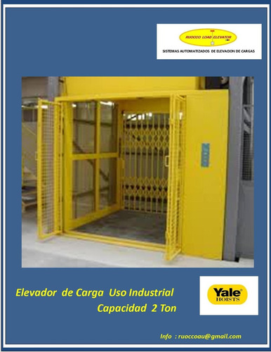 ascensor carga 1200 kgrm 10 m / 2 stop