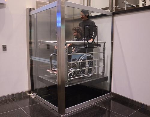 ascensor para discapacitados / montaplatos y monta auto