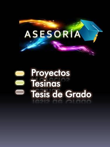 aseoría de tesis y proyectos