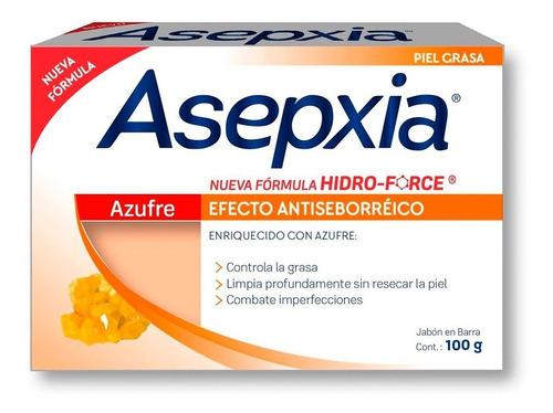 asepxia jabón azufre anti seborreico 100 g laminada