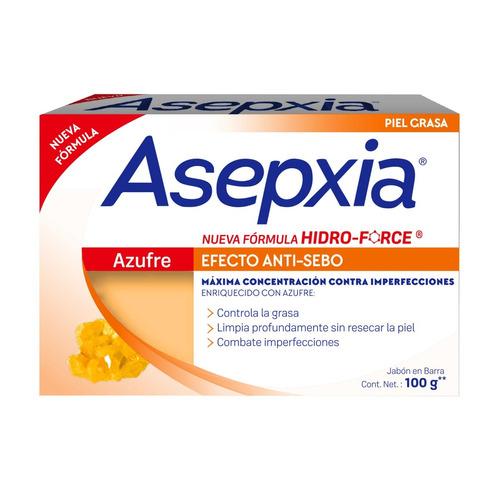 asepxia jabón en barra  azufre x 100grs piel grasa