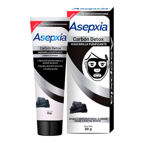 Asepxia Mascarilla Peel Off Purificante Carbón 30g.