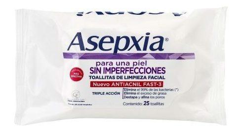 asepxia toallitas de limpieza 25 unidades