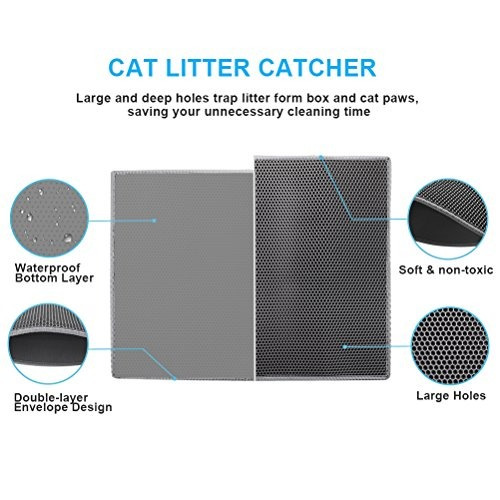 aserrín para gatos estera de doble capa panal  tamaño xl