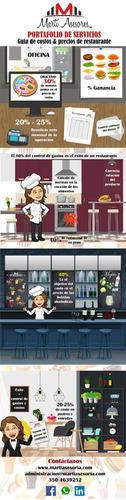 asesoramiento a restaurantes. mejoramos su rentabilidad