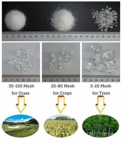 asesoramiento colocación de poliacrilato de sodio y potasio