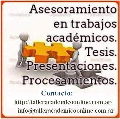 asesoramiento monografías, tesinas , tesis, art. científicos
